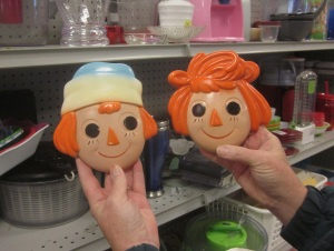 Orange Raggedy Ann and Andy