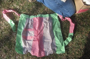 Crazy old Gingham apron
