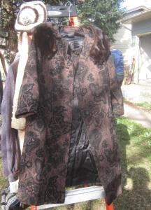Interesting old mink coat
