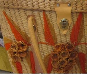 Crafty Summer Straw Bag closeup