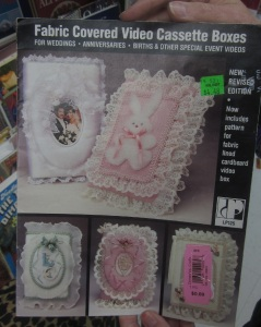 Fabric covered VHS cases