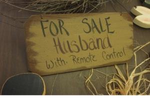 Husband for sale sign