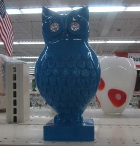 Owl has diamond eyes