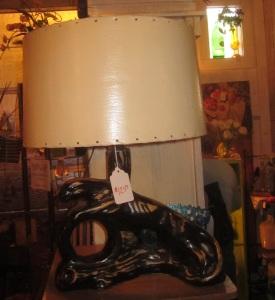 50s Black Panther Lamp