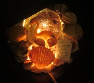 Flamingo Shell Lamp
