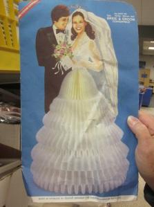 Honey comb bridal dress