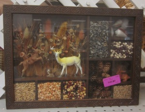 deer and bean shadow box
