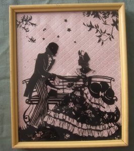 1800s couple pink background