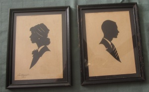 1950s couple silhouettes