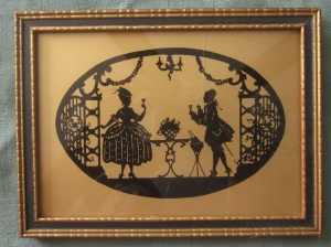 silhouette Regency couple