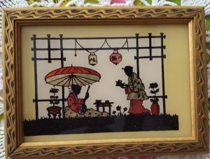 Painted Silhouette Asian Tea Ceremony
