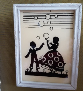 Painted Silhouette kids with bubbles3