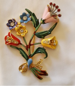 1940s Floral Broach